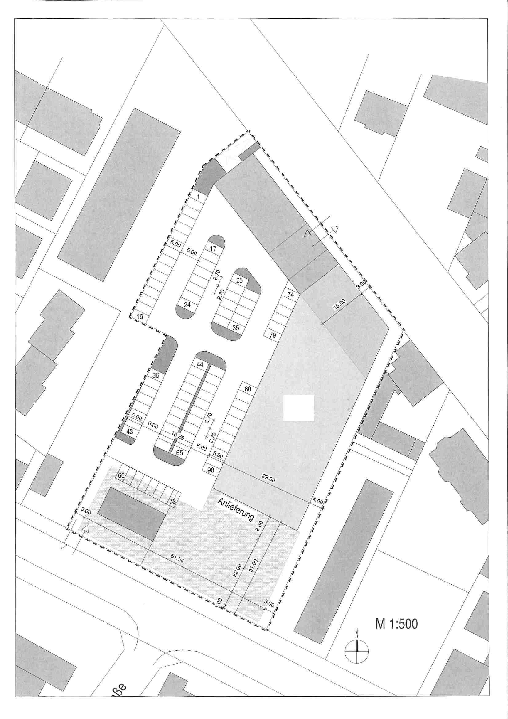 Projektierung eines Vollsortimentmarktes mit ca. 2.700 m²