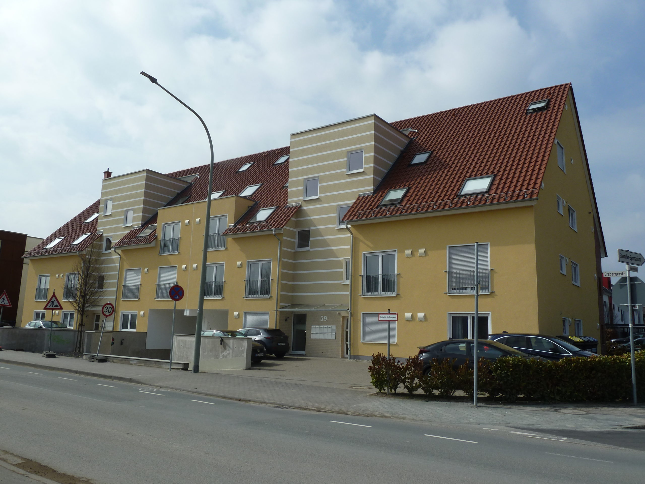 Neubau von 22 Wohneinheiten mit Tiefgarage